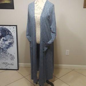 LulaRoe Sarah Duster Cardigan Sweater Medium